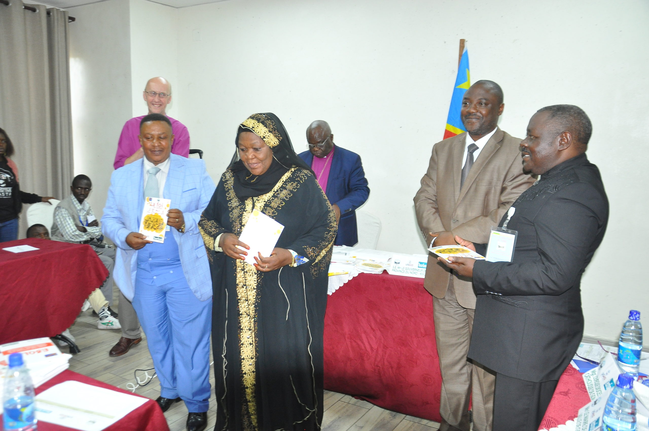 Religious leaders receive information to help correct Ebola myths and misinformation.