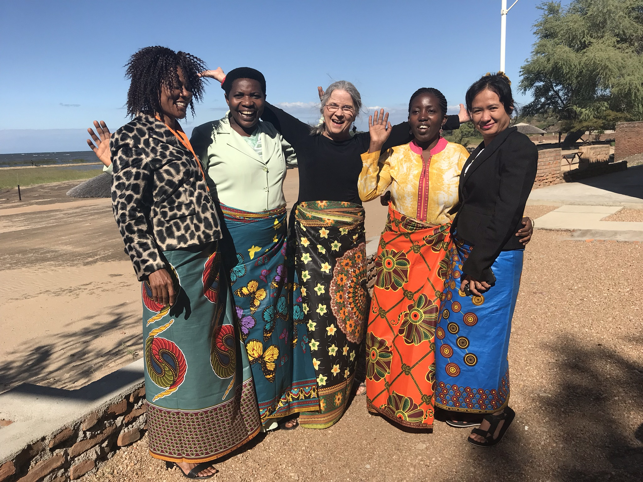 Debbie Dortzbach of World Relief with women leaders she taught at a Families for Life Summit in 2018 on Lake Malawi. The participants are leaders from Burundi, Rwanda, Malawi, and Cambodia.