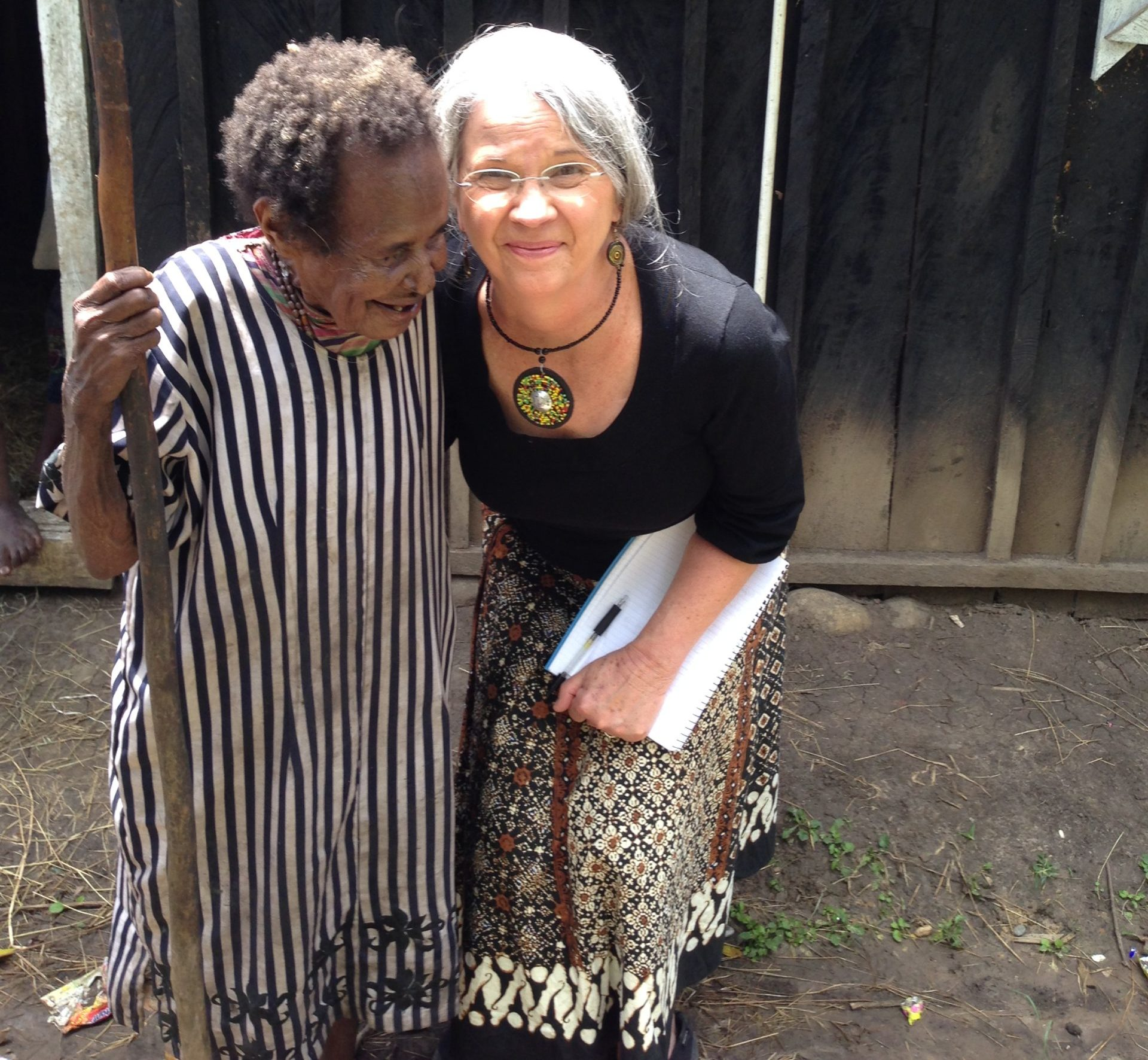 Debbie Dortzbach of World Relief with an agemate (woman who shares her age) in Papau, New Guinea.