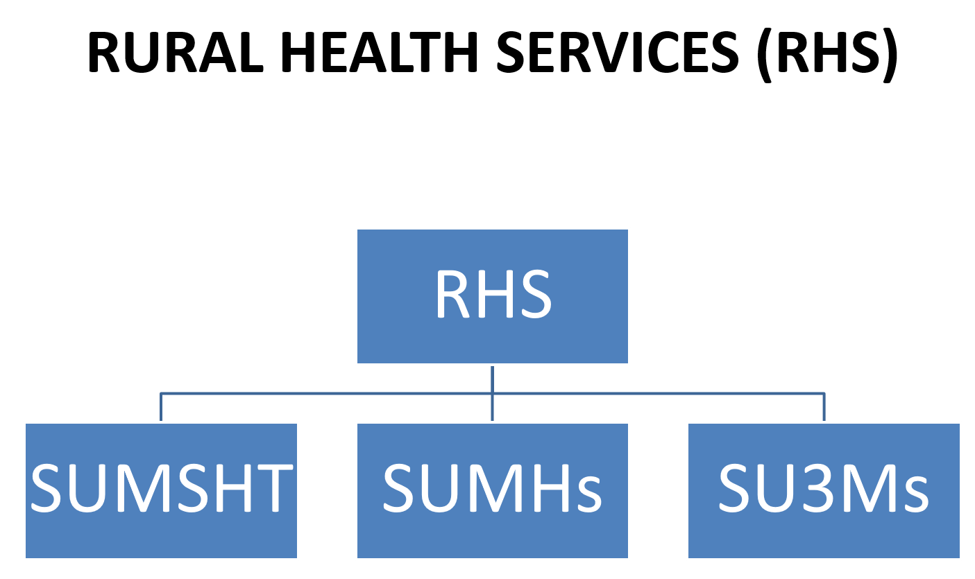 Flow chart of Rural Health Services and how the organization is structured.