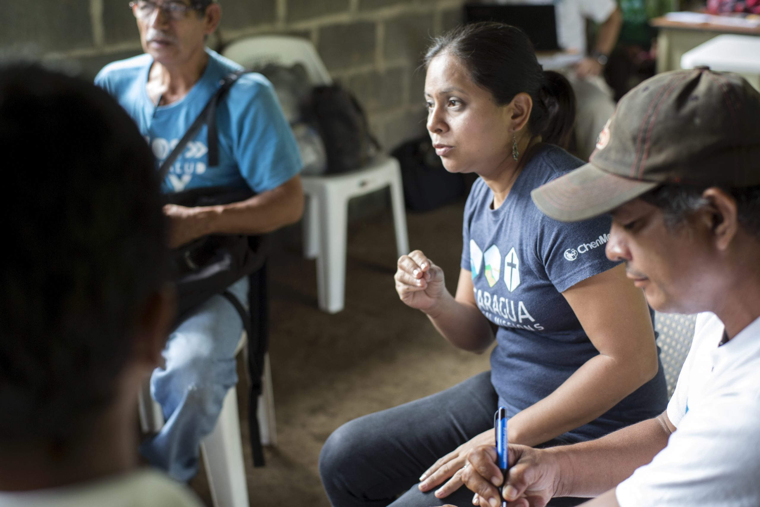 People in rural Nicaragua in a training session about family planning