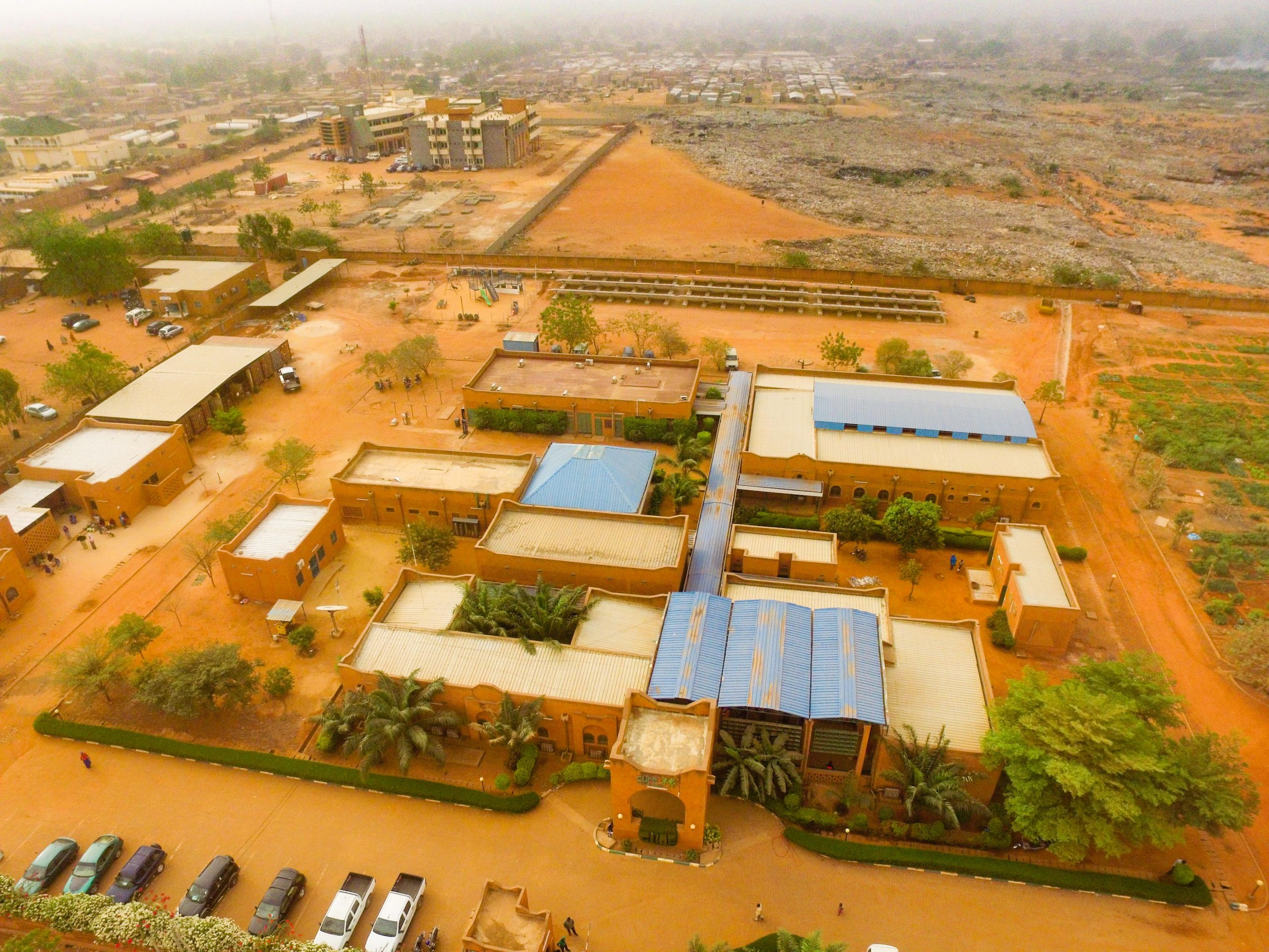 Arial view of hospital in Niger